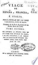 Viage [sic] de España, Francia, é Italia