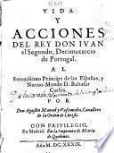 Vida y acciones del Real Don Iuan el Segundo, Decimotercio de Portugal
