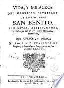 Vida y milagros del glorioso patriarca de los monges San Benito