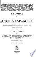 Vida y obra de Serafin Estébanez Calderon, El Solitario