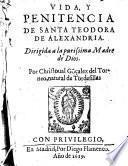 Vida y penitencia de Santa Teodora de Alexandria