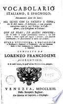 Vocabolario italiano e spagnolo novamente dato in luce