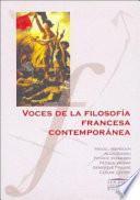 Voces de la filosofía francesa contemporánea