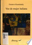 Voz de mujer italiana